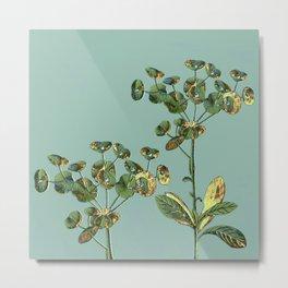 botanical with gold leaf  Metal Print