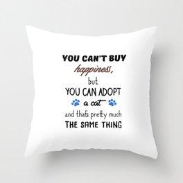 Adopt a Cat Throw Pillow