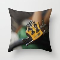bass Throw Pillows featuring Bass by Gaby Mabromata