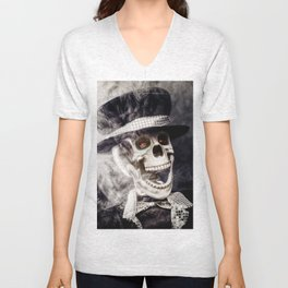 The Dapper Skeleton Unisex V-Neck