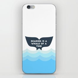 Reading is a Whale of a Time  iPhone Skin