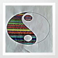 ying yang Art Prints featuring Ying Yang by ArtSchool