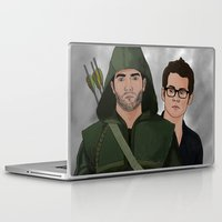 sterek Laptop & iPad Skins featuring Arrow!Sterek by Finduilas