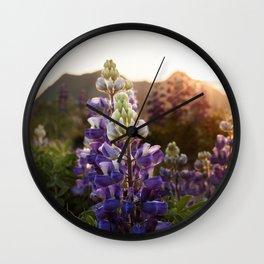 Mountain Lupine Photography Print Wall Clock