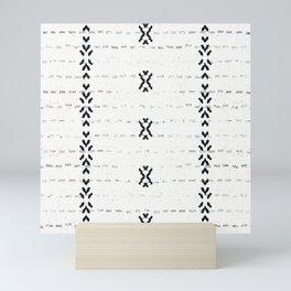 FRENCH LINEN STRIPE Mini Art Print