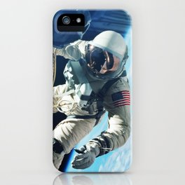 Astronaut In Space USA iPhone Case