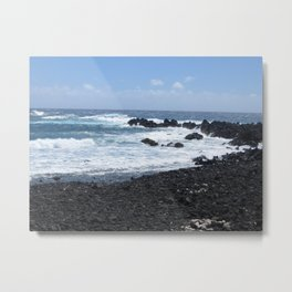 Black and Blue Earth Metal Print