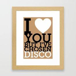 Disco Framed Art Print