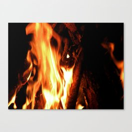 Summer Campfire Canvas Print