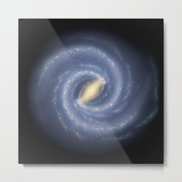 R Hurt - Artistic Representation of the Milky Way (2013) Metal Print