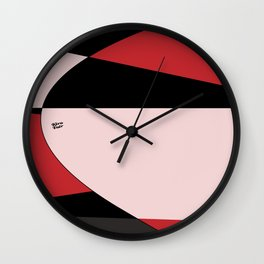 Modern Abstract Red #buyart #decor #abstract #design #kirovair Wall Clock