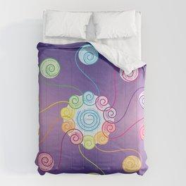 blue spiral Comforters