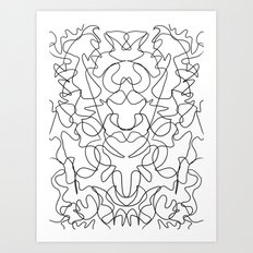 Rorschach Version 6 Art Print
