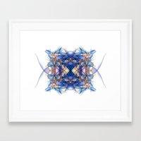 indigo Framed Art Prints featuring Indigo by Alla Ilencikova