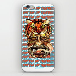Eat'Em Up Tigers! iPhone Skin