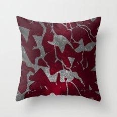 Crimson Splatter Throw Pillow