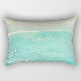 beach ocean wave. Surge. Hermosa Beach photograph Rectangular Pillow