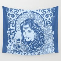 gypsy Wall Tapestries featuring Gypsy by albertsurpower