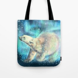 Floating polar bear Tote Bag