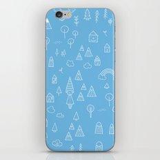 my blue chalkboard  iPhone & iPod Skin