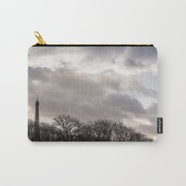 Eiffel tower cloudy day Carry-All Pouch