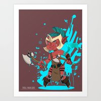 dota Art Prints featuring Troll Warlord by Angxix