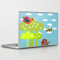 bee Laptop & iPad Skins featuring bee by BruxaMagica_susycosta