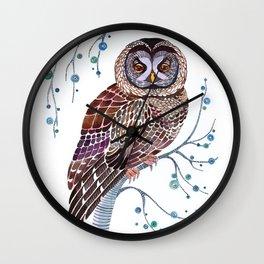 lacy owl Wall Clock
