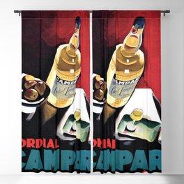 Vintage Campari Italian Cordial Advertisement Wall Art Blackout Curtain
