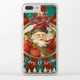Christmas Vintage 115 Clear iPhone Case
