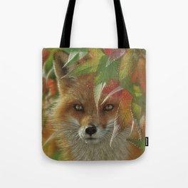 Autumn Red Fox Tote Bag