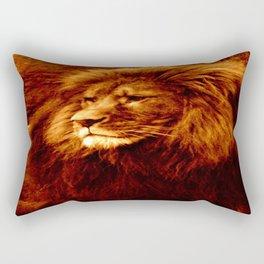 Golden Lion Rectangular Pillow
