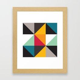 Geometric Pattern #30 (triangles) Framed Art Print