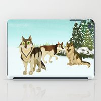 wolves iPad Cases featuring Wolves by Kileigh Gallagher