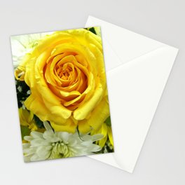 Yellow Flowers Stationery Cards