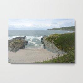 Woolacombe Beach in a Cove of Rocks Metal Print