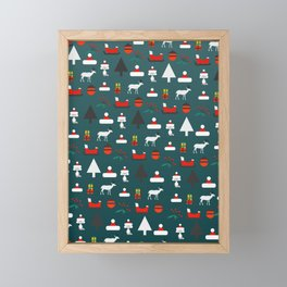 Christmas crowd Framed Mini Art Print
