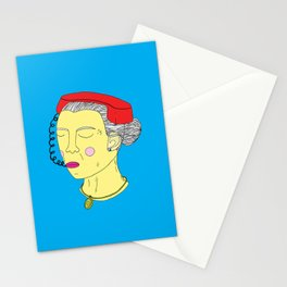 Anxious Lady Stationery Cards