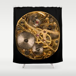 Time is passing by - antique watch Shower Curtain