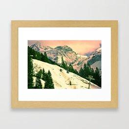 Wintertime in Kandersteg Swiss Framed Art Print