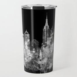 New York City Inverted Watercolor Skyline Travel Mug