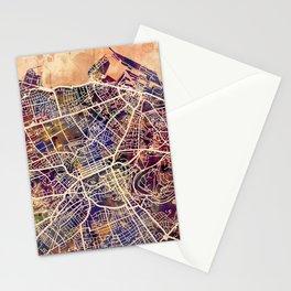 Edinburgh City Scotland Street Map Stationery Cards