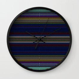 Navy Rag Weave II by Chris Sparks Wall Clock