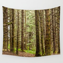 Old Growth Forest Photography Print Wall Tapestry