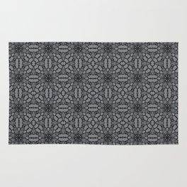 Sharkskin Black Lace Rug
