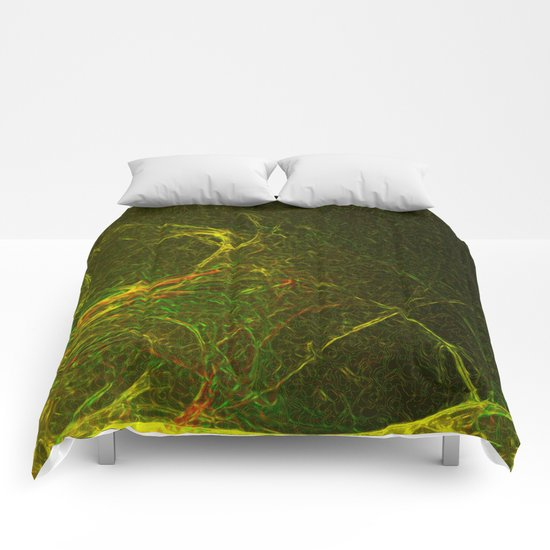 Solar Flare Waves Comforters