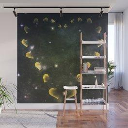 Cosmos Hart of Harts Green & Black Wall Mural