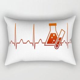 Chemist Heartbeat Rectangular Pillow