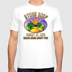 Stone Soup Mens Fitted Tee White MEDIUM