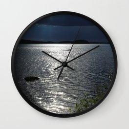 Before Rain - Lakescape by the Night #decor #society6 #buyart Wall Clock
